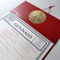 Imagen de Calendrier mensuel en bloc 2021 pages détachables Tipografia Vaticana Typographie Vaticane