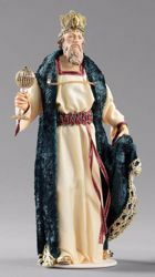 Picture of Caspar White Wise King cm 20 (7,9 inch) Hannah Orient dressed nativity scene Val Gardena wood statue with fabric dresses