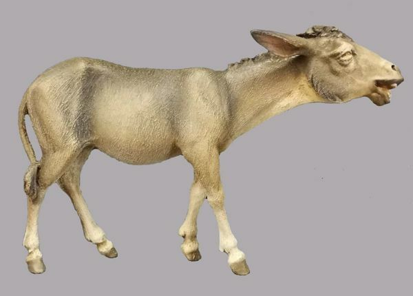 Picture of Donkey walking cm 30 (11,8 inch) Hannah Orient dressed Nativity Scene in Val Gardena wood