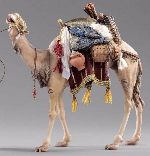 Imagen de Camello con silla cm 30 (11,8 inch) Pesebre vestido Hannah Alpin en madera Val Gardena
