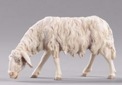 Picture of Sheep eating cm 30 (11,8 inch) Hannah Alpin dressed Nativity Scene in Val Gardena wood