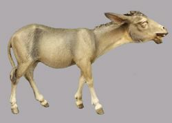 Picture of Donkey walking cm 20 (7,9 inch) Immanuel dressed Nativity Scene oriental style Val Gardena wood statue