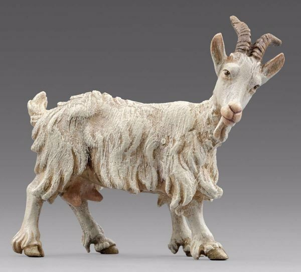 Picture of Goat looking rightward cm 20 (7,9 inch) Immanuel dressed Nativity Scene oriental style Val Gardena wood statue