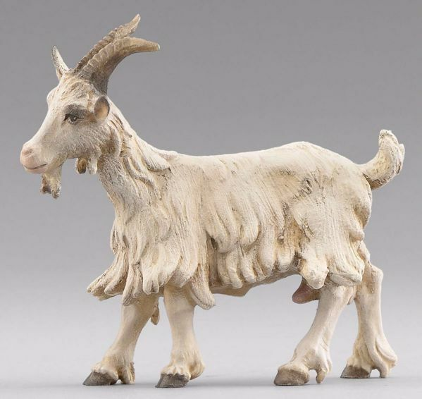 Picture of Goat standing cm 20 (7,9 inch) Immanuel dressed Nativity Scene oriental style Val Gardena wood statue