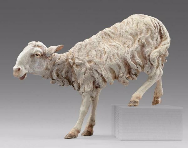Picture of Sheep (for step) cm 20 (7,9 inch) Immanuel dressed Nativity Scene oriental style Val Gardena wood statue