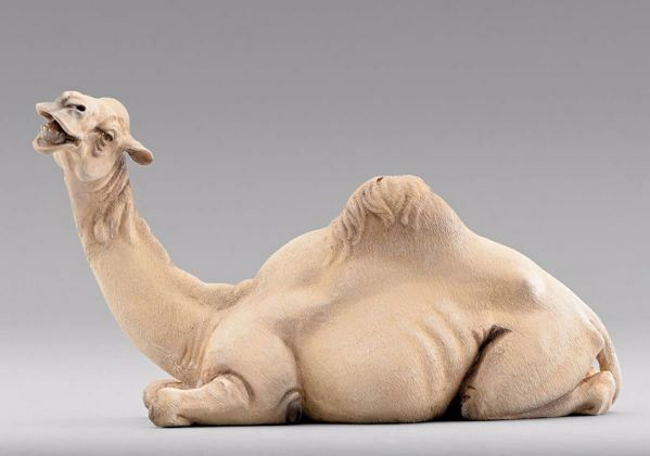 Picture of Camel lying cm 30 (11,8 inch) Immanuel dressed Nativity Scene oriental style Val Gardena wood statue
