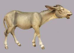 Picture of Donkey walking cm 30 (11,8 inch) Immanuel dressed Nativity Scene oriental style Val Gardena wood statue