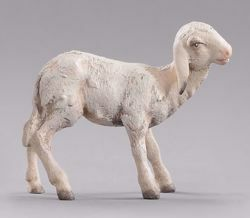Picture of Lamb standing cm 30 (11,8 inch) Immanuel dressed Nativity Scene oriental style Val Gardena wood statue
