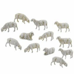 Picture of 12 Sheep Set cm 6 (2,4 inch) Landi Moranduzzo Nativity Scene in PVC, Neapolitan style