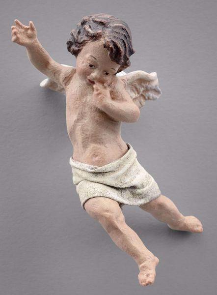 Immagine di Putto (1) cm 30 (11,8 inch) Presepe vestito Immanuel stile orientale statua in legno Val Gardena abiti in stoffa