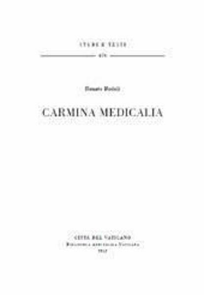 Imagen de Carmina Medicalia Renato Badalì