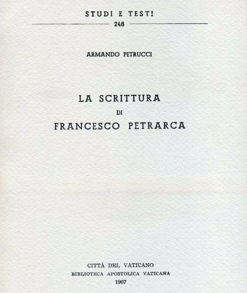 Imagen de La scrittura di Francesco Petrarca Armando Petrucci
