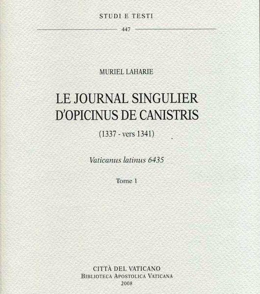 Imagen de Le journal singulier d' Opicinus de Canistris. (1337-vers 1341) - Vaticanus latinus 6435. 2 Volumi Murriel Laharie