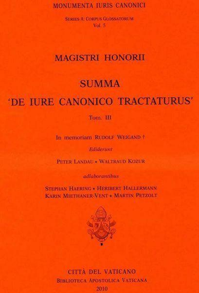 Picture of Magistri Honorii Summa 'De iure canonico tractaturus' - Tomo III Rudolf Weigand, Waltraud Kozur