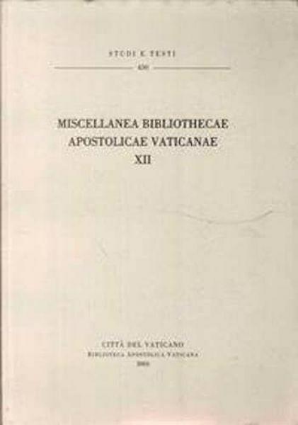 Picture of Miscellanea Bibliothecae Apostolicae Vaticanae (XII)