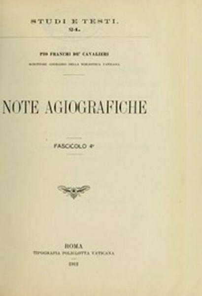 Immagine di Note agiografiche Pio Franchi de' Cavalieri