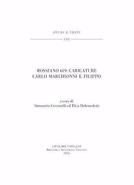 Imagen de Rossiano 619 : Caricature Carlo Marchionni e Filippo Simonetta Ceccarelli, Elisa Debenedetti