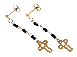 Picture for category Gold Cross Earrings