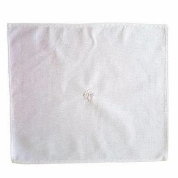 Picture of Liturgical Purificator Altar Linen embroidered white Cross Pure Cotton White