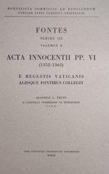 Immagine di Acta Innocentii PP. VI (1352-1362) Pontificia Commissio ad Redigendum Codicem Iuris Canonici Orientalis