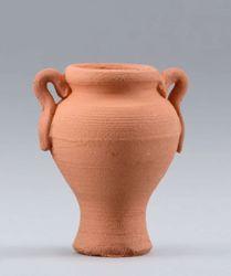 Imagen de Ánfora de terracota cm 10 (3,9 inch) Belén para vestir Homobono de madera y cobre