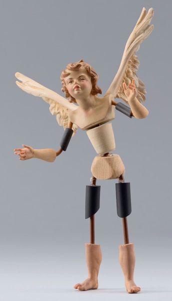 Imagen de Ángel Cód.15 cm 10 (3,9 inch) Belén para vestir Homobono de madera y cobre