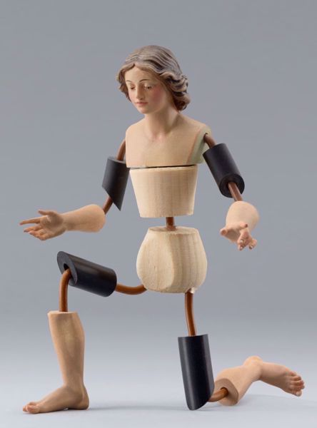 Picture of Figure Code02 cm 10 (3,9 inch) DIY undressed Homobonus Nativity in wood and copper