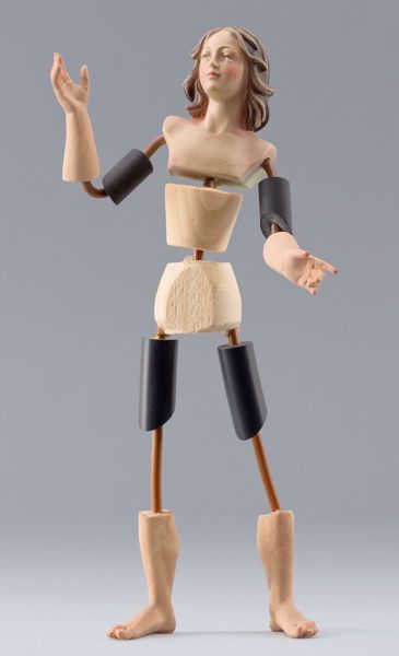Picture of Figure Code08 cm 10 (3,9 inch) DIY undressed Homobonus Nativity in wood and copper