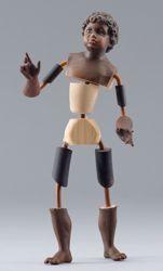 Immagine di Manichino Cod.11 cm 10 (3,9 inch) Presepe da vestire Omobono in legno e rame
