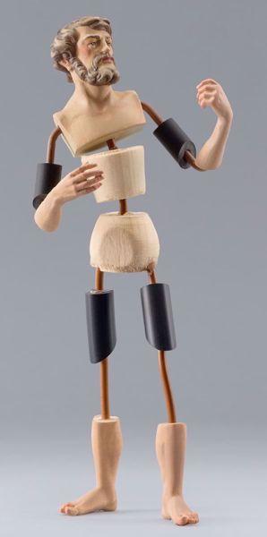 Immagine di Manichino Cod.17 cm 10 (3,9 inch) Presepe da vestire Omobono in legno e rame
