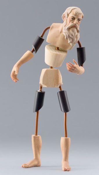 Imagen de Maniquí Cód.18W cm 10 (3,9 inch) Belén para vestir Homobono de madera y cobre
