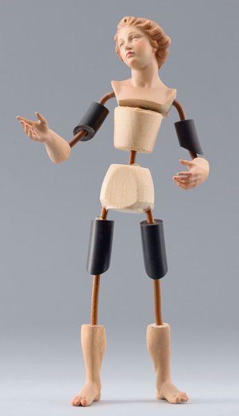 Imagen de Maniquí Cód.21 cm 10 (3,9 inch) Belén para vestir Homobono de madera y cobre