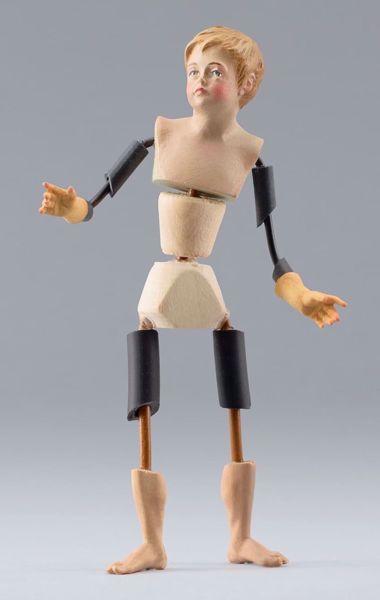 Imagen de Maniquí Cód.26B cm 10 (3,9 inch) Belén para vestir Homobono de madera y cobre