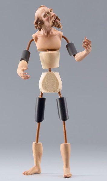 Imagen de Maniquí Cód.30 cm 10 (3,9 inch) Belén para vestir Homobono de madera y cobre