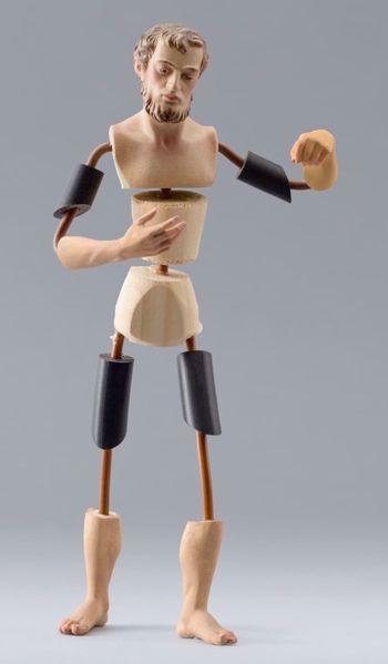 Imagen de Maniquí Cód.32 cm 10 (3,9 inch) Belén para vestir Homobono de madera y cobre