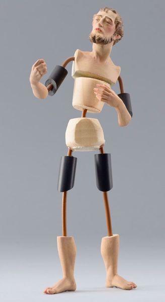 Imagen de Maniquí Cód.33 cm 10 (3,9 inch) Belén para vestir Homobono de madera y cobre