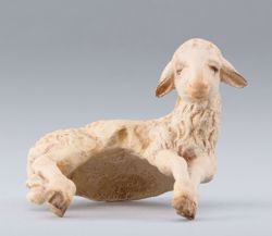 Imagen de Cordero de hombro cm 40 (15,7 inch) Belén para vestir Homobono de madera y cobre