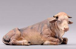 Immagine di Bue cm 40 (15,7 inch) Presepe da vestire Omobono in legno e rame