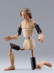 Imagen de Maniquí Cód.02 cm 40 (15,7 inch) Belén para vestir Homobono de madera y cobre