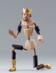Imagen de Maniquí Cód.04 cm 40 (15,7 inch) Belén para vestir Homobono de madera y cobre