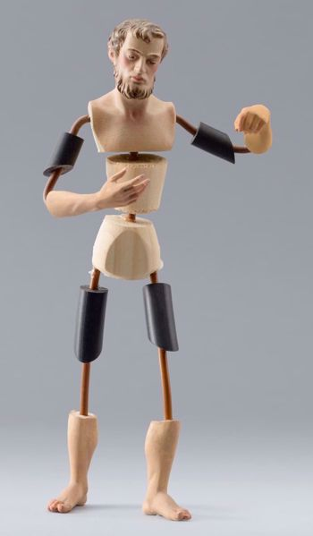 Picture of Figure Code32 cm 40 (15,7 inch) DIY undressed Homobonus Nativity in wood and copper