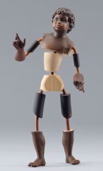 Imagen de Maniquí Cód.11 cm 30 (11,8 inch) Belén para vestir Homobono de madera y cobre