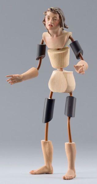Imagen de Maniquí Cód.23 cm 30 (11,8 inch) Belén para vestir Homobono de madera y cobre