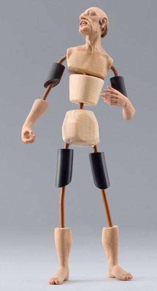 Imagen de Maniquí Cód.29 cm 30 (11,8 inch) Belén para vestir Homobono de madera y cobre