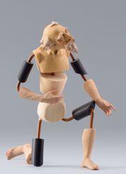 Imagen de Maniquí Cód.30W cm 30 (11,8 inch) Belén para vestir Homobono de madera y cobre