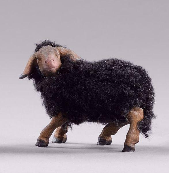 Immagine di Agnello con lana cm 12 (4,7 inch) Presepe da vestire Omobono in legno e rame