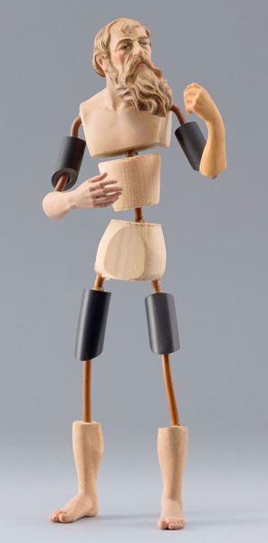Immagine di Manichino Cod.18 cm 12 (4,7 inch) Presepe da vestire Omobono in legno e rame