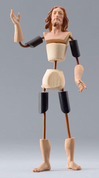 Imagen de Maniquí Cód.27 cm 12 (4,7 inch) Belén para vestir Homobono de madera y cobre