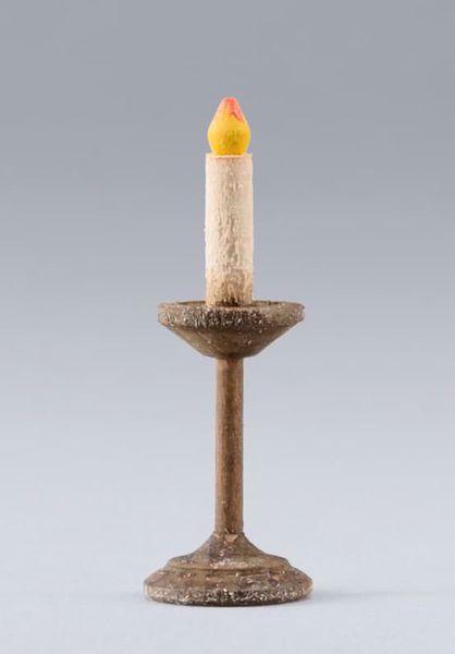 Imagen de Vela cm 20 (7,9 inch) Belén para vestir Homobono de madera y cobre