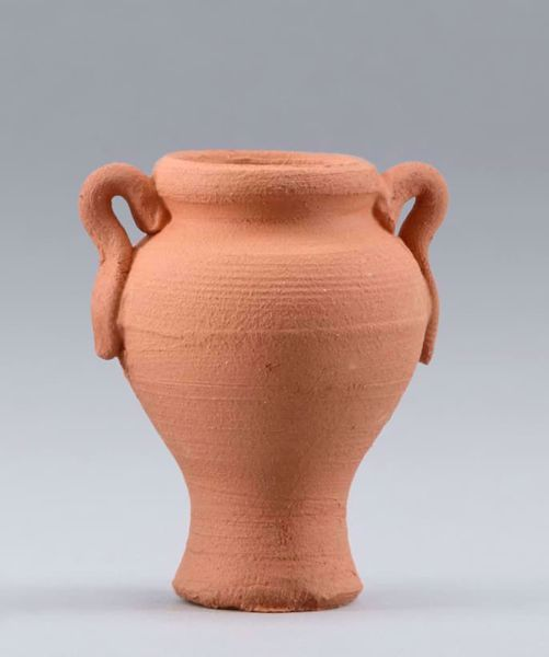 Picture of Clay Amphora cm 20 (7,9 inch) DIY undressed Homobonus Nativity in wood and copper